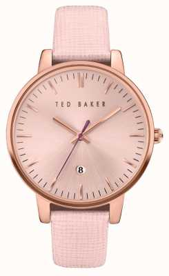 Ted Baker Womans boîtier en or rose rose cadran en or TE10030737