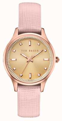 Ted Baker Womans boîtier en or rose bracelet en cuir rose TE10030743