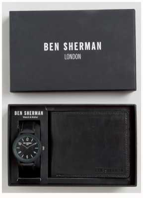 Ben Sherman Mens Wallet noir coffret cadeau WB050BBG