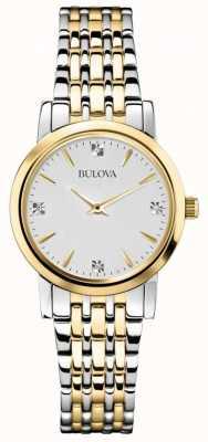 Bulova Womans galerie de diamant deux montre de tonalité 98S115