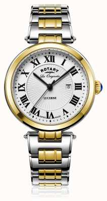 Rotary Womans lucerne d'or d'argent deux tons LB90188/01/L