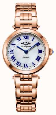 Rotary Womans luzerne rose or avec nacre LB90189/41