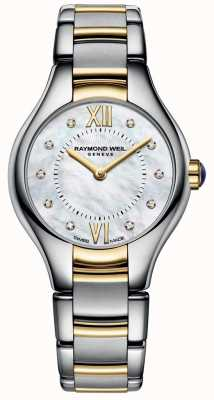Raymond Weil Womans noemia deux tons 10 diamants cadran en nacre 5124-STP-00985