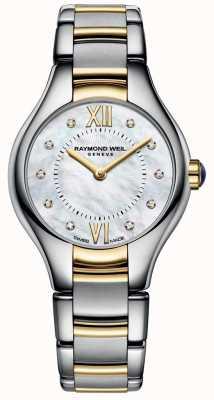 Raymond Weil Womans noemia deux tons 10 diamants cadran en nacre 5124-STP-00985