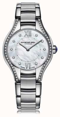 Raymond Weil Womans noemia 62 diamants cadran en nacre 5124-STS-00985