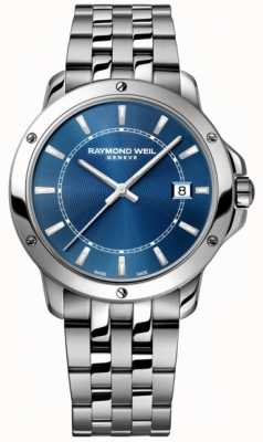 Raymond Weil Cadran index bleu en acier inoxydable pour homme tango 5591-ST-50001