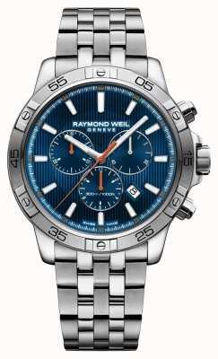 Raymond Weil Mens tango 43mm bleu chrongraph dial inox 8560-ST2-50001