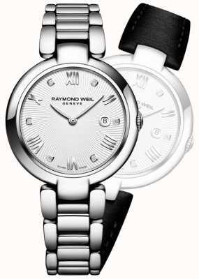 Raymond Weil Womans brille diamant argenté en acier inoxydable 1600-ST-00618