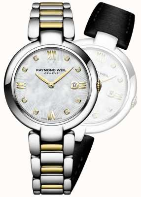 Raymond Weil Womans brille un point de diamant en acier inoxydable à deux tons 1600-STP-00995