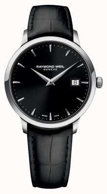 Raymond Weil Mens Slim cuir noir noir 5488-STC-20001