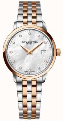 Raymond Weil Womans deux tons rose diamant dot or 5988-SP5-97081