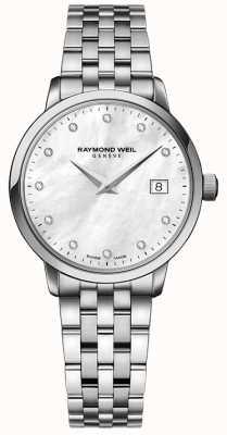 Raymond Weil Womans toccata quartz en acier inoxydable argent diamant point 5988-ST-97081