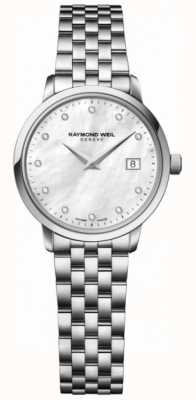 Raymond Weil Womans toccata quartz en acier inoxydable argent diamant point 5988-ST-97081