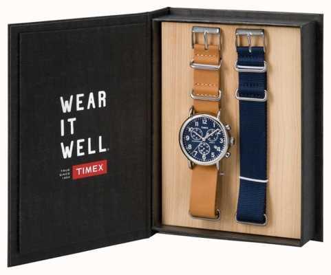 Timex Mens weekender cadeau chronographe ensemble TWG012800