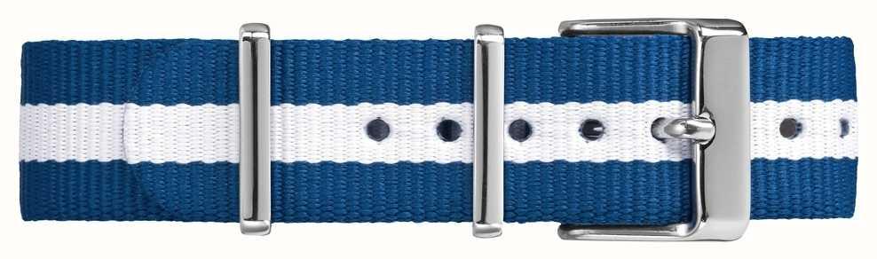 Timex Weekender Fairfield 18mm sangle bleue blanche TW7C07300