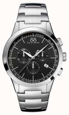 88 Rue du Rhone Ex-display rive homme chronographe noir face acier inoxydable 87WA154307-EX-DISPLAY