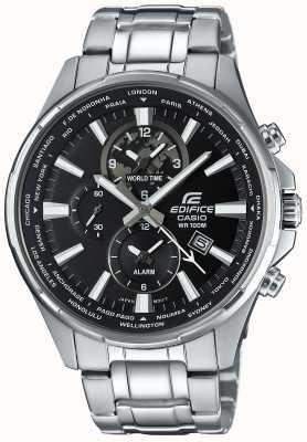 Casio Edifice chronographe en acier inoxydable, le visage noir EFR-304D-1AVUEF