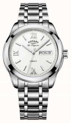 héritage date de jour de bracelet en acier inoxydable des hommes Rotary GB90173/01