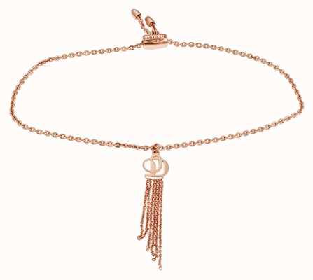 Project D Femmes rose-ton sterling logo argent charme bracelet PDLJ/2/B/2