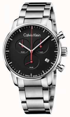 Calvin Klein ville poli Montre chrono Homme K2G27141