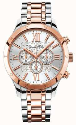 Thomas Sabo Mens rebelle chrono urbaine or rose / acier inoxydable WA0225-272-201-43