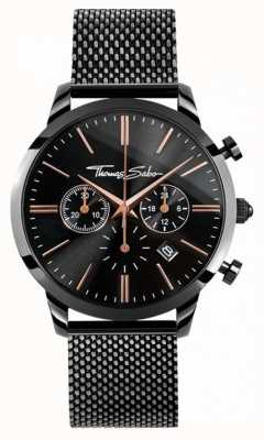 Thomas Sabo esprit Mens rebelle chrono filet noir WA0247-202-203-42