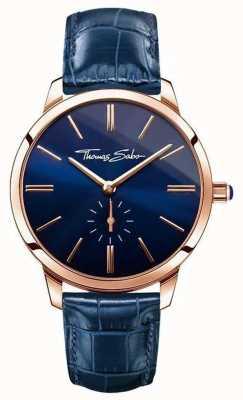 Thomas Sabo Mesdames glam cuir bleu esprit WA0250-270-209-33