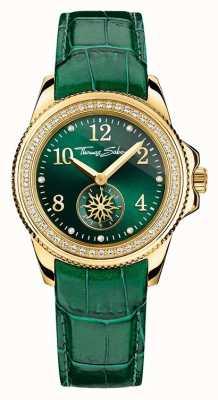 Thomas Sabo Mesdames glam chic de cuir vert cadran vert WA0255-276-211-33