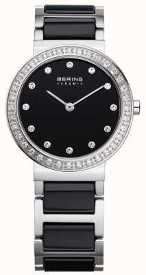 Bering acier noir en céramique / stainlss 10729-702