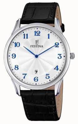 Festina Mens bracelet noir cadran blanc F6851/2