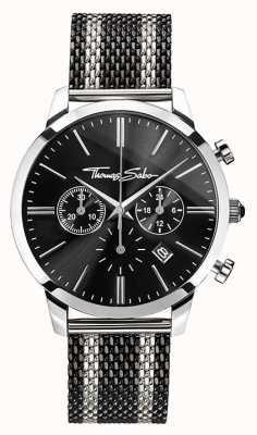 Thomas Sabo Mens chronographe esprit rebelle | bracelet en acier inoxydable | WA0284-280-203-42
