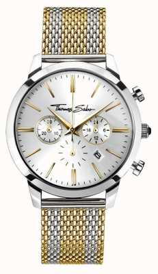 Thomas Sabo Mens rebelle esprit chronographe en or jaune WA0286-282-201-42