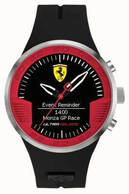 Scuderia Ferrari Mens bracelet en caoutchouc noir rouge noir 0830373