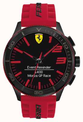 Scuderia Ferrari Mens montre d'alarme rouge noir 0830376