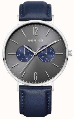 Bering Gents bleu montre en cuir 14240-803