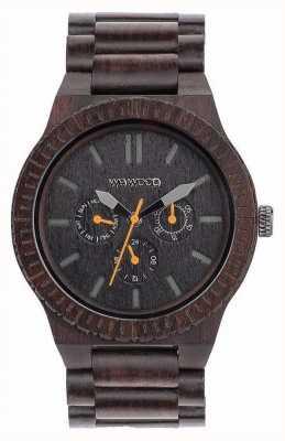 WeWood Mens kappa orange noir bracelet noir en bois 70315300
