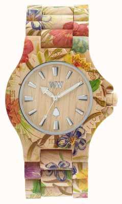 WeWood Womens Date fleur bracelet en bois beige 70221200