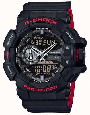 Casio Mens g-shock alarme chronographe bracelet en résine noire GA-400HR-1AER