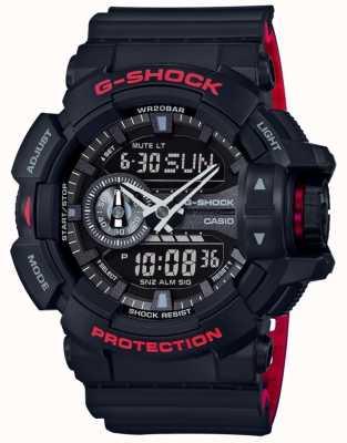 Casio Bracelet en résine noir chronographe G-Shock Alarm pour homme GA-400HR-1AER