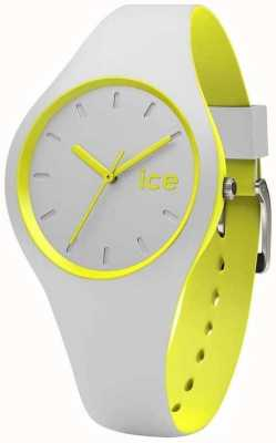 Ice-Watch duo unisexe gris silicone jaune DUO.GYW.U.S