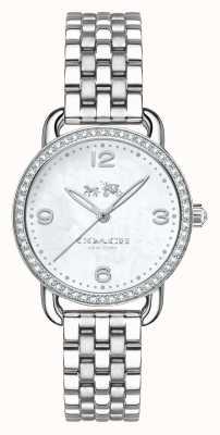 Coach Womens delancey cadran bracelet en argent en acier inoxydable 14502477