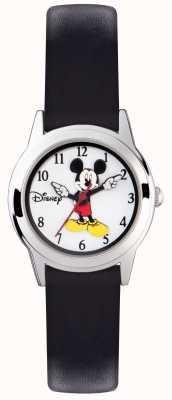 Disney Adult Étui Mickey Mouse pour enfants, bracelet en argent, bracelet noir MK1314
