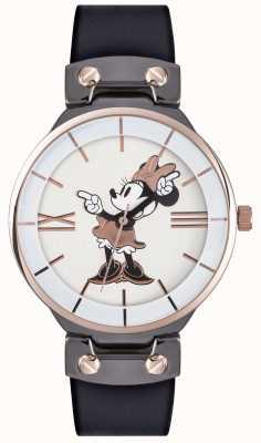 Disney Adult Minnie souris rose boîtier en or bracelet noir MN1564