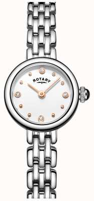 Rotary Womans élégante montre de cocktail en acier inoxydable LB05052/02