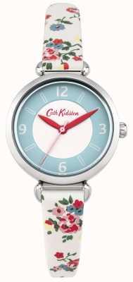 Cath Kidston Mesdames Kew branchette floral montre en cuir crème CKL020CS