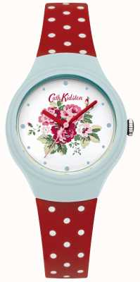 Cath Kidston fleur cadran Mesdames polka rouge montre dot CKL024UR