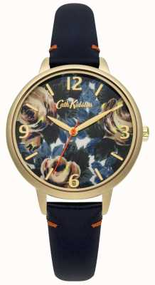 Cath Kidston Mesdames profond cuir bleu oxford rose montre CKL001UG