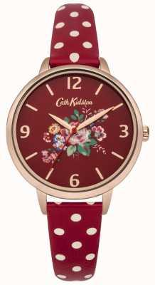 Cath Kidston Cath kidston briar rose bracelet à pois rouge montre CKL004RRG