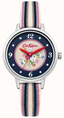 Cath Kidston Mesdames CLIFTON rose cadran multicolore tissé sangle CKL007US