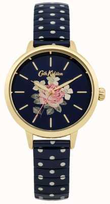 Cath Kidston Mesdames marine à pois montre richmond CKL009UG